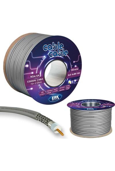 Erk Uydu Anten Kablosu Rg6/U4 64Tel Sılverplus 100 Metre