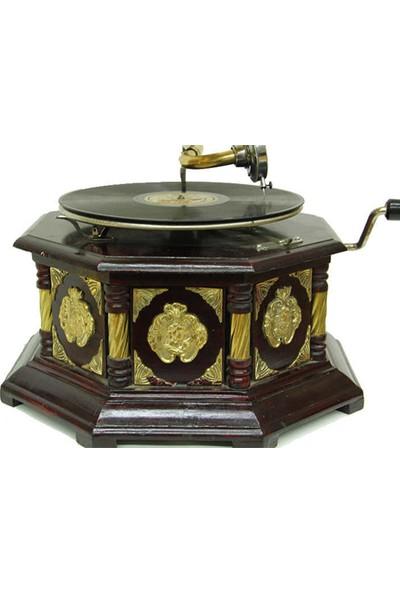 Mory Concept Gramofon Sekizgen Bronz Kakma