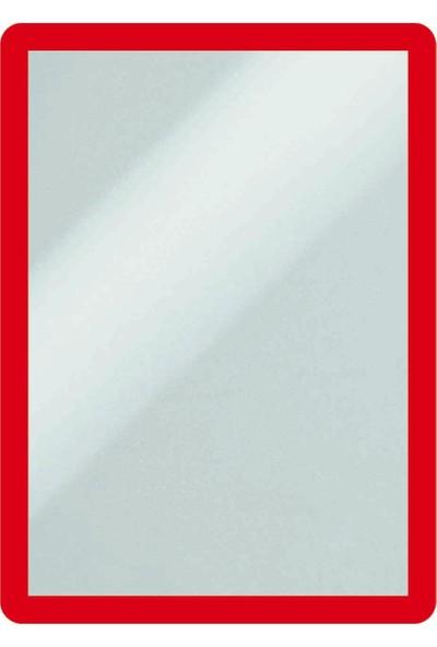 DirektAl Arkası Yapışkanlı Çerçeve Kapakları Mıknatıslı-Duyuru Çerçevesi-Kırmızı