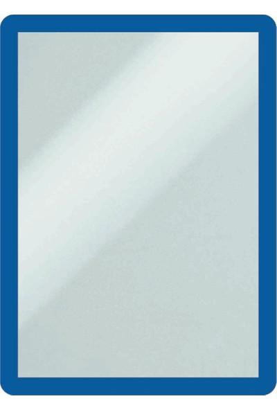 DirektAl Arkası Yapışkanlı Çerçeve Kapakları Mıknatıslı-Duyuru Çerçevesi-Mavi