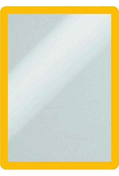DirektAl Arkası Yapışkanlı Çerçeve Kapakları Mıknatıslı-Duyuru Çerçevesi-Sarı
