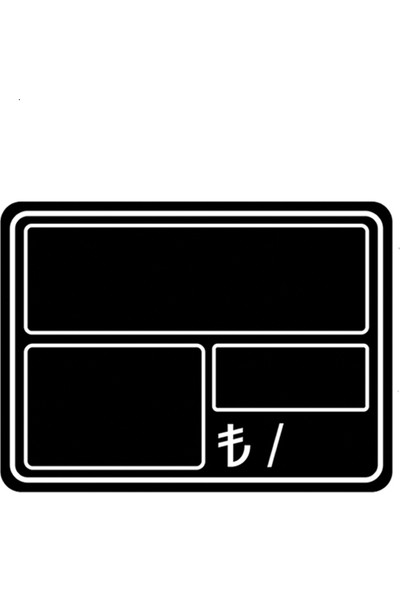 Simge Yapı Dekorasyon Kancalı Geçmeli Silinebilir Kare Etiketliği 5 Adet