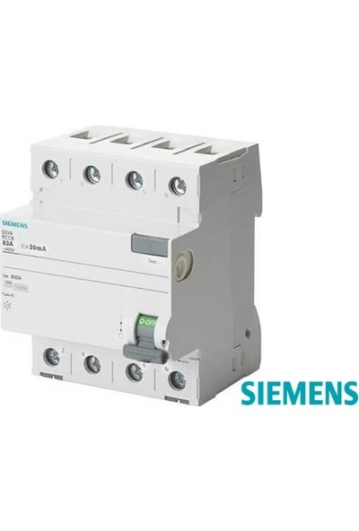 Siemens Kaçak Akım Rölesi 4X100A (30Ma)