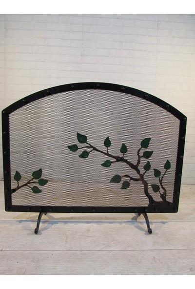 Theragone Şömine Siperliği Oval Yaprak Desenli