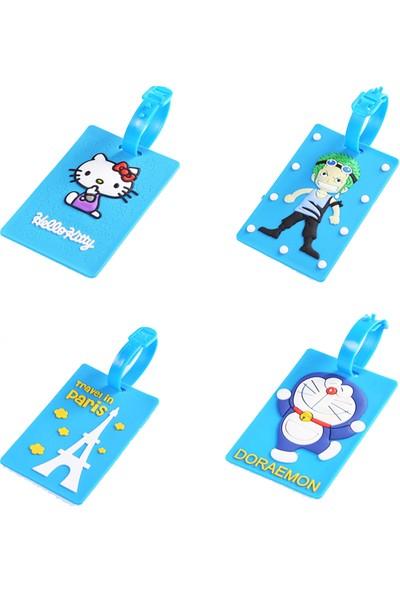 Elia Elya Bavul Bagaj Etiketi İsimlik 4'lü Set