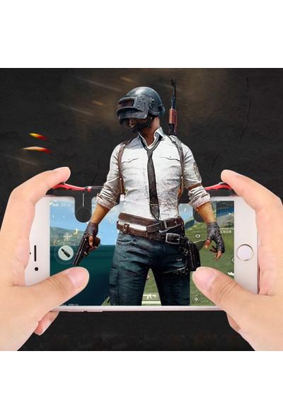 Techmaster Tüm Telefonlar İçin Oyun Adaptörü Pubg Ateş Tetik Düğmesi MD5 6 7