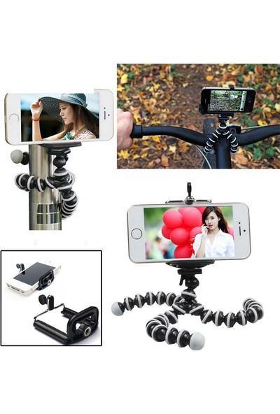 Techmaster Gorillapod Ahtapot Tripod Tüm Cihazlar ile Uyumlu Ergonomik Tasarım 15 cm