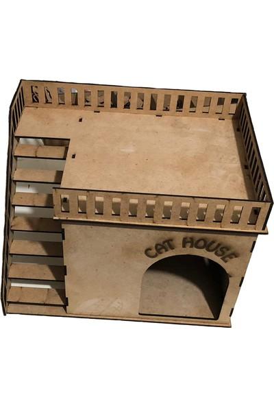 Wood Toys Ahşap Kedi Evi