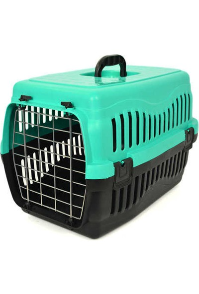 Pet Style Pati Desenli Kedi Taşıma Küçük (Metal Kapılı)