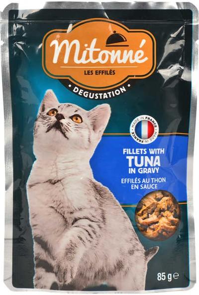 Mitonne 85 gr Ton Balıklı Kedi Fileto Pouch x 24 PAKET