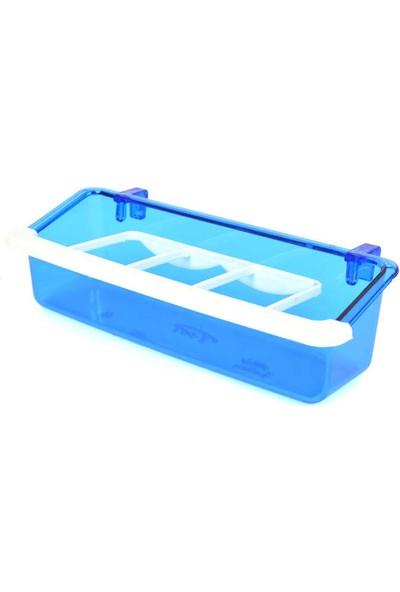 Flip Izgaralı Lüx Yemlik Mavi 15 cm