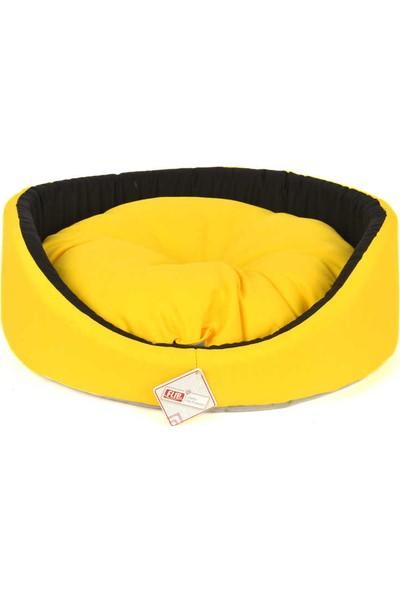 Flip Pet Butterfly Simit Kedi - Köpek Yatağı (Sarı)