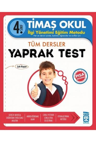 4. Sınıf Tüm Dersler Yaprak Test
