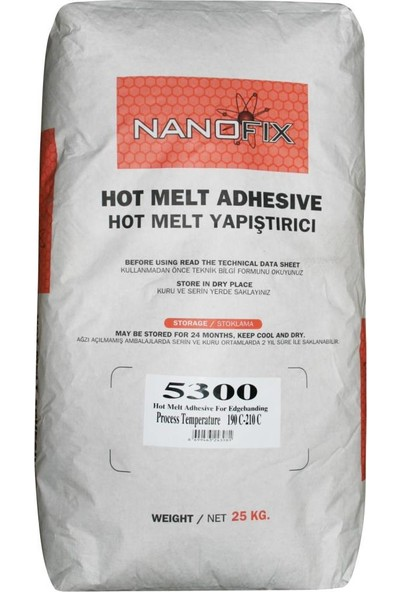 Nanofix Hotmelt Tutkal 5300 Süper Şeffaf Su Beyazı 25 Kg