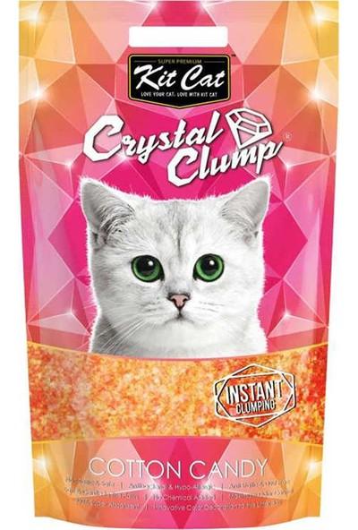 Kit Cat 4 Lt Pamuk Şeker Topaklanan Silica Kedi Kumu