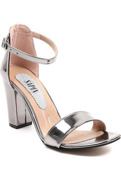 Sapin 23013 Kadın Topuklu Ayakkabı Platin