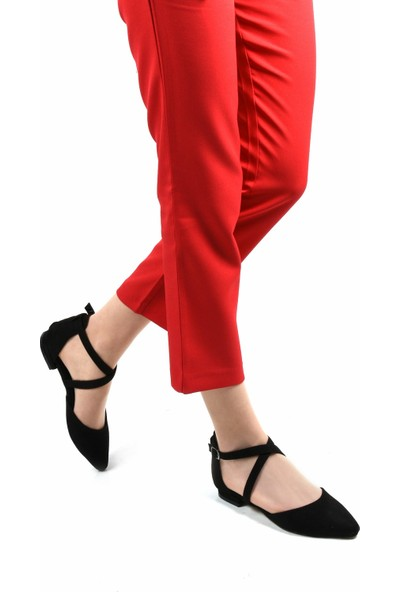 Sapin 23019 Kadın Ayakkabı Siyah Süet