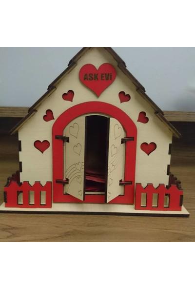 Hediyemi Getir Ahşaptan Aşk Evi ve 365 Gün Sevgi Notu