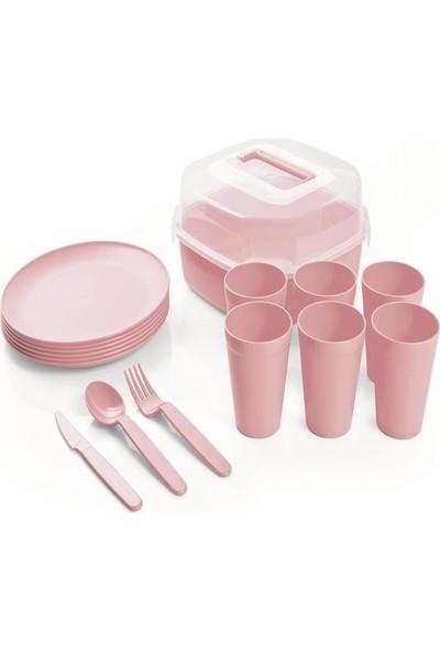 Üçsan Familya 6 Kişilik Plastik Piknik seti 32 Parça