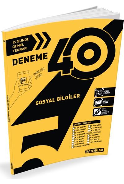 Hız Yayınları 5. Sınıf Sosyal Bilgiler 40lı Deneme