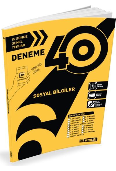 Hız Yayınları 6. Sınıf Sosyal Bilgiler 40 lı Deneme
