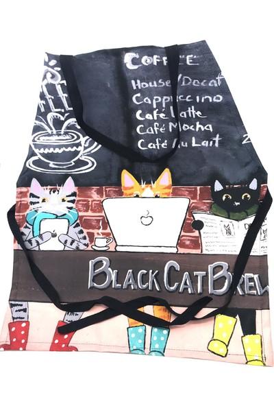 Mutfak Önlüğü - Cat Cafe