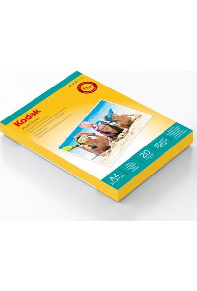 Kodak Premium Glossy,Parlak A4 180Gr/M² Fotoğraf Kağıdı 20 Yaprak-50 Paket/Koli
