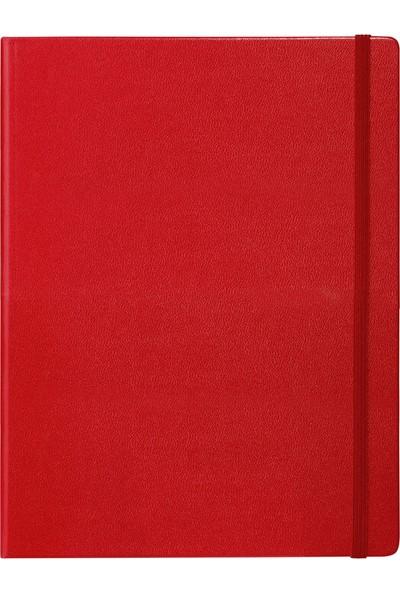 Fabio Ricci A4 Kırmızı Çizgili Yandan Lastikli 786268