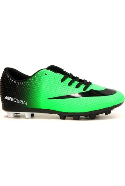 Walked 401 Yeşil Krampon Çim Erkek Futbol Spor Ayakkabı