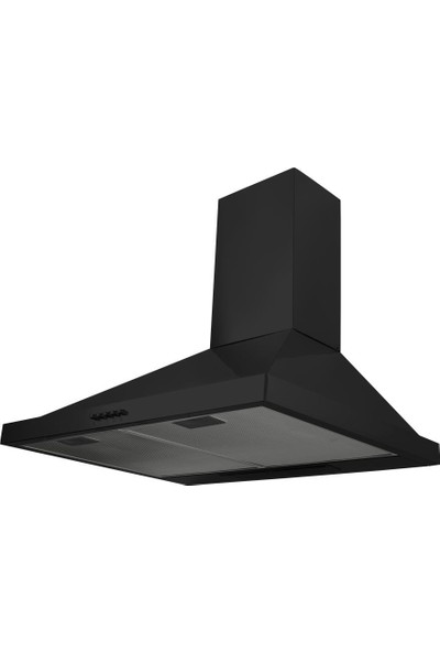 Renno Metallo Siyah Davlumbaz 60 Cm