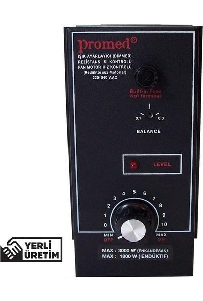 Promed Pano Tipi 3000 Watt Dimmer & Rezistans Fan Motor Devir Kontrol