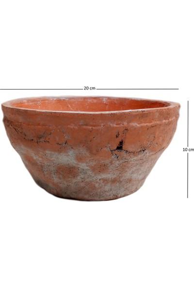 Mica Kremit Renginde Şık Toprak Saksı 10X20