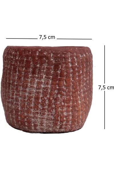 Mica Kahverengi Toprak Saksı 7,5X7,5