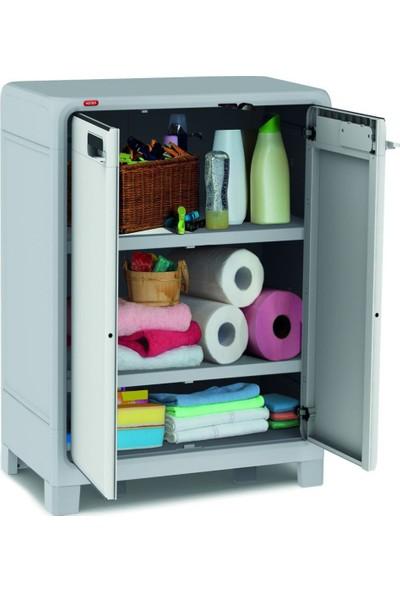 Keter Optima 2 Kapılı Plastik Dolap, Banyo Dolabı, Mutfak Dolabı