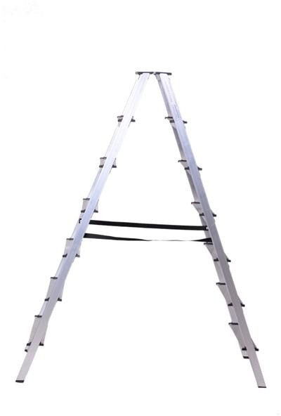 Yapinoks 7+7 Çift Çıkışlı Alüminyum Merdiven 14 Basamaklı