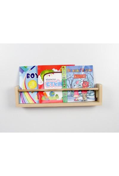 Şahin Mobilya Çocuk Odası Ahşap Soft Montessori Raf Kitaplık Naturel