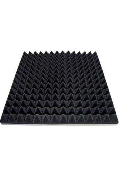 Bant Marketim 50Mm Yanmaz Akustik Piramit Sünger 50Dns 100Cmx100Cm 10Adet(10M2)
