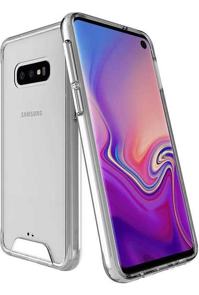 Case 4U Samsung Galaxy S10e Kılıf Gard Ultra Sert Silikon Kılıf Şeffaf