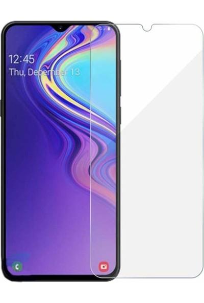 Case 4U Samsung Galaxy M30 Cam Ekran Koruyucu - Temperli Ekran Koruyucu Şeffaf