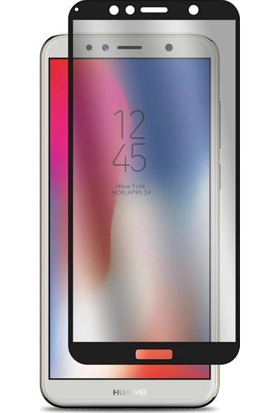 Case 4U Huawei Y6 2018 Tam Kaplayan Cam Ekran Koruyucu - Nano Fiber Siyah