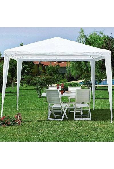 Bidesenal Çardak Bahçe Çardağı Gölgelik Tente 3*3 Metre Gazebo Parti Çadırı Extra Kalın Örtü