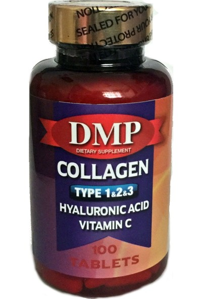 Dmp Collagen Tip 1 2 3 Hyaluronic Acid Vitamin C 100 Tablets