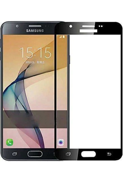 VPW Samsung Galaxy J7 Core (Ön) 5D Full Siyah Nano Premium Dayanıklı Ekran Koruyucu