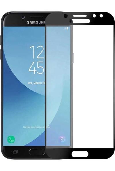 VPW Samsung Galaxy J7 Pro J730 (Ön) 5D Full Siyah Nano Premium Dayanıklı Ekran Koruyucu