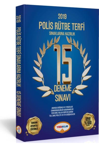 Yediiklim Yayınları 2019 Polis Rütbe Terfi Sınavlarına Hazırlık 15 Deneme