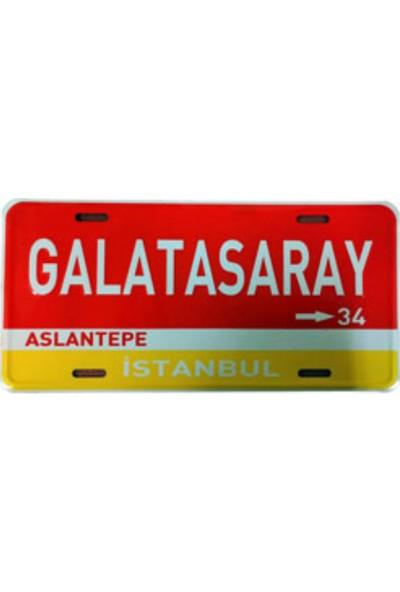 Sibiro Dekoratif Plaka Galatasaray Aslantepe Sarı Kırmızı