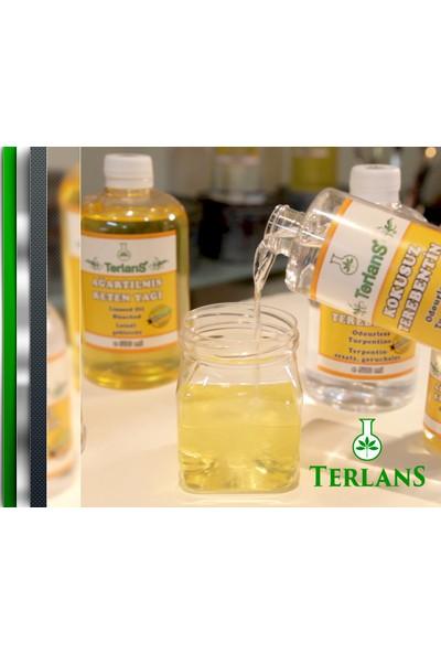Terlans Kokusuz Terebentin Ve Resim Yağı (Keten Yağı) 2 X 1000 Ml Odourless Turpentine & Linseed Oil Bleached