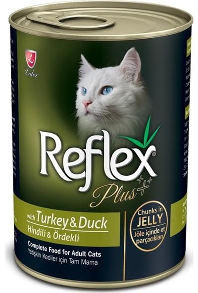 Reflex Plus Hindili Ördekli Jöleli Konserve Yetişkin Kedi Maması 400 gr x 24 Adet
