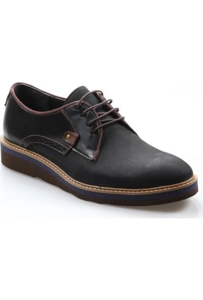 Tardelli Erkek Oxford Siyah Deri Ayakkabı