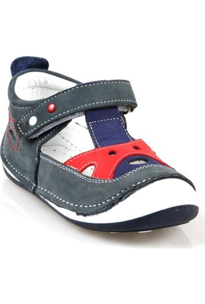 Rüzgar Bebe Erkek Çocuk Ortapedik Deri İlk Adım Ayakkabı